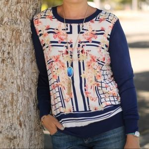 41 HAWTHORN Stitch Fix Zappo Mixed Media Sweater S